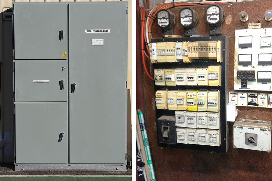 BUSLINK New Main Switchboard and BUSLINK before Upgrade