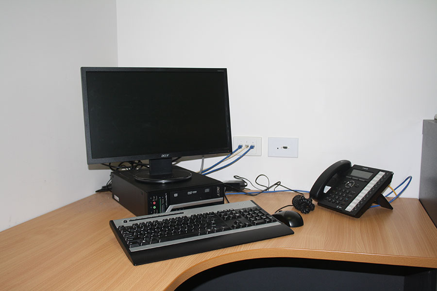 Office power and network points
